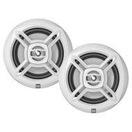 "New Pair Dual DMP672 Marine Boat DM Series 6.5"" Inch Dual-Cone Stereo Speakers - White"