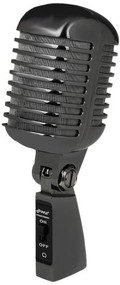 Classic Retro Die Cast Metal Vintage Style Dynamic Vocal Microphone with 16ft XLR Cable (Black)