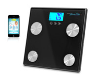 New Pyle PHLSCBT4BK Bluetooth Digital Scale & Smartphone Data Transfer- Black