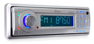 AM/FM Marine In-Dash Detachable Face Radio w/MP3/USB/SD/AUX Input with Bluetooth Wireless Technology