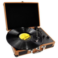 New PVTT2UWD Rechargeable Retro Belt-Drive Turntable W/Speakers & USB-to-PC Line