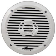 "Audiopipe 6.5"" 2-Way Marine Speaker 200W Max White"