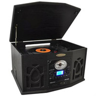 PTCDS7UIB Retro Turntable& CD/MP3/Casette/Radio/USB/SD Aux/Vinyl-to-MP3 Encoding