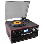 New Pyle Turntable AM/FM Cassette CD Player USB/SD Direct Record iPod/MP3 Input