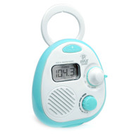 Pyle PSR14 Splash Proof Mini Digital AM/FM Radio Alarm Clock with LCD Display