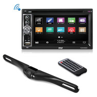 "Pyle PLDNV64BCM Pyle 6.5"" Touchscreen Headunit Receiver Stereo Radio, GPS Navigation, CD/DVD Player"