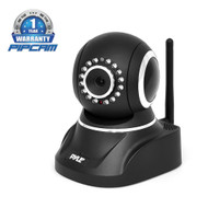Pyle PIPCAMHD82BK Wireless IP Cam/Wi-Fi Security Camera, Full HD, Remote Surveillance, Pan/Tilt (Black)