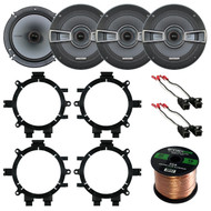 This package includes a Kicker 41KSS654 6.5 inch 500-Watt Black Component Speakers, Metra 72-4568 Car Speaker Harness, Metra 82-3002 GM Full Size P/U SUV Speaker Adaptors, Enrock Audio 16-Gauge 50 Foot Speaker Wire