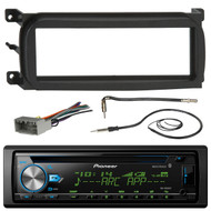 Pioneer DEH-X6900BT Bluetooth CD Car Stereo Audio Receiver - Bundle Combo W/ Metra Dash Kit For 1998-Up Chrysler/Dodge/Jeep Vehicles + Antenna Adapter Cable + Radio Wiring Harness + Enrock Antenna