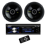Kicker 40CS654 6.5-Inch 300W Coaxial Speakers with Boss 506UA MP3 CD Player (Pair)