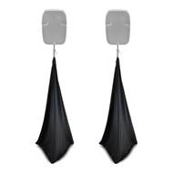 2x Pyle Pro PSCRIM3B Scrim For DJ Speaker And Light Tripod Stands, Black, 3 Sided Cover Design, Universal Mountable & Compatibility