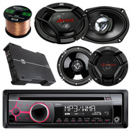 """Clarion CZ102 CD/MP3/WMA AUX Car Receiver Bundle Combo With 2x JVC CSDR6930 6x9"""" 3-Way Vehicle Coaxial Speakers + 4x CSDR620 6.5"""" Audio Speaker + Dual XPE4700 800w Amplifier + 50Ft 16G Speaker Wire"""