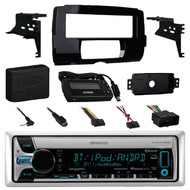 Kenwood KMR-D765BT Marine Boat Yacht Outdoor CD MP3 USB AUX Bluetooth AM/FM Radio Receiver, Metra 99-9700 Harley Davidson Dash Kit , Metra Axxess ASWC-1 Universal Steering Wheel Control Interface