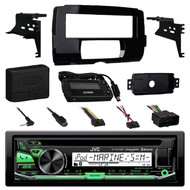 JVC KD-R97MBS iPod & Android CD MP3 Bluetooth Marine Boat Yacht Outdoor USB AUX AM/FM Radio Receiver, Metra 99-9700 Harley Davidson Dash Kit , Pyle PLMRB29B Bluetooth In-Dash Stereo Radio Headunit Receiver