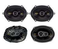 "2) Kicker 40CS684 6x8"" 450W 2 Way + 2) 40CS6934 6x9"" 450W 3 Way Coaxial Speakers"