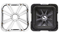 "Package: Kicker 11S12L7-2 12"" 1500 Watt Dual 2 Ohm Solo Baric L7 Subwoofer w/ Non Resonant Aluminum Basket + Kicker 11L712GLC 12"" Charcoal Grille With LED Lighting For SoloBaric 11S12L7 Subwoofer"