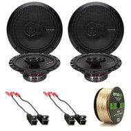 "Package Bundle Includes = Rockford Fosgate R165X3 Prime 6.5"" Inch 180 Watt 3-Way Full-Range Black Car Coaxial Speaker, Metra 72-4568 Car Speaker Harness, Enrock Audio 16-Gauge 50 Foot Speaker Wire"