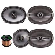 "4 x New Kicker 41KSC694 6x9"" KS-Series 600 Watt 2-Way Car Speakers Pair with Poly-Switch"