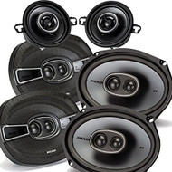 "Kicker Dodge Ram Crew Cab 2012 & up speaker bundle- 2 pairs of KS 6x9"" speakers, & a pair of KS 3.5"" speakers"
