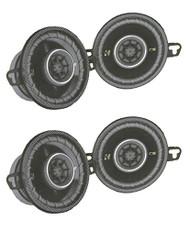 "4) New Kicker CS354 3.5"" 180W 2 Way Car Audio Coaxial Stereo Speakers 40CS354"