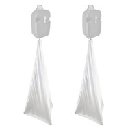 2x Pyle Pro PSCRIM2W Scrim For DJ Speaker And Light Tripod Stands, White, 2-Sided Cover Design, Universal Mountable & Compatibility