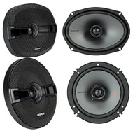 "(2) New! Kicker 44KSC6904 KSC69 6x9""+(2) Kicker 44KSC6504 KSC6 6.5"" Car Speakers"