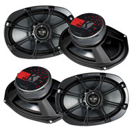 "2 Pairs Of New Kicker 11KS69 6"" x 9"" 2-way KS Series Coaxial Car Stereo Speakers"