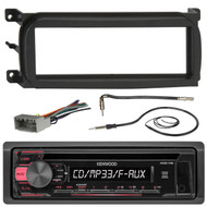 Kenwood KDC118 CD Car Stereo Audio Receiver - Bundle Combo W/ Metra Dash Kit For 1998-Up Chrysler/Dodge/Jeep Vehicles + Antenna Adapter Cable + Radio Wiring Harness + Enrock Antenna