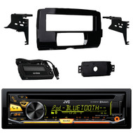 JVC KD-RD97BT Bluetooth iHeart Radio Pandora Front USB AUX CD/MP3/WMA Player Receiver, Metra 99-9700 Harley Davidson Dash Kit