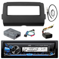 """Audio Bundle For 2014 and Up Harley - JVC KD-X35MBS MP3 USB AUX Marine Bluetooth Media Receiver Bundle Combo With Dash Installation Kit, Handle Bar Controller for Motorcycle, Enrock 22"""" Radio Antenna"""