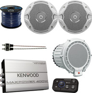 "This Package Bundle Combo Includes: 2 Pairs (total of 4) JBL MS6510 6.5"" Marine Boat Coaxial Speakers + 1x JBL MPS1000 10"" 250-Watt Subwoofer + Kenwood Bluetooth 4-Channel Amplifier + Enrock 50Ft 16g Speaker Wire + 3 Ft RCA Cable …"