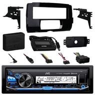 JVC KD-X35MBS iPod & Android Digital Media Bluetooth Marine, Powersport Car Receiver, Metra 99-9700 Harley Davidson Dash Kit , Metra Axxess ASWC-1 Universal Steering Wheel Control Interface