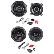 "Package: Pair of Kicker 40CS44 4"" 4-Ohm 2-Way Car Audio Coaxial Speakers Totaling 300 Watt + Kicker 40CS654 6.5"" 4-Ohm 2-Way Car Audio Coaxial Speakers Totaling 600 Watt"