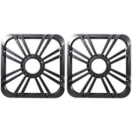 "(2) Kicker 11L710GLC 10"" Charcoal Grilles With LED Lighting For SoloBaric 11S10L7 Subwoofer"