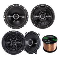 """Kicker 41DSC54 5.25"""" 2-Way Speaker, Kicker 41DSC674 6.75"""" 2-Way Speaker, Enrock Audio 16-Gauge 50 Foot Speaker Wire"""