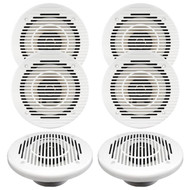 "3 Pairs Of Magnadyne WR85W 6 1/2"" Inch Waterproof 80 Watt Marine Boat Hot Tub Shower Outdoor Speakers With Black Grill,"
