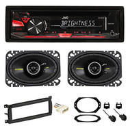 03-06 JEEP WRANGLER JVC Stereo/Radio/CD Player+Kicker Speakers+Full Install Kit