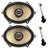 "New Pair Polk Audio Car Audio 5"" X 7"" 2-Way Car Audio Speakers 180 Watts Max, Metra 72-5600 Speaker Adapter for Select Ford Vehicles"