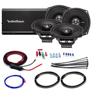 "Car / Marine Amp Combo: Rockford Fosgate R1-HD4-9813 Prime 160 Watt 4-Channel Marine Car Motorcycle Amplifier and 4x 5.25"" Speaker Set Bundle With Scosche 10-AWG OFC Amp Installation Kit (4 Speakers)"