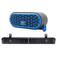 HIFONICS TPS10 THOR 10-Speaker Bluetooth Powersports Amplified Soundbar,and MBQUART QUB3.10201 QUBThree Dual Driver Wireless Bluetooth Speaker (Blue)