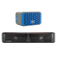 Hifonics TPS6 THOR 6-Speaker Bluetooth Marine Powersports Amplified Universal Weatherproof Soundbar Speaker Bundle Combo With Mb-quart QUB2.10201 QUBTwo Dual Driver Blue Wireless Bluetooth Speaker
