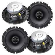"2 Pairs Alpine SPS-610 6.5"" 2 Way Coaxial Car Speakers Totalling 960 Watts Peak"