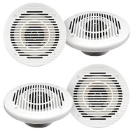 "2 Pairs Of Magnadyne WR85W 6 1/2"" Inch Waterproof 80 Watt Marine Boat Hot Tub Shower Outdoor Speakers With Black Grill,"