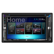 Dual Marine DV695MB Double-DIN Multimedia DVD Receiver with Bluetooth and 2-Way DualMirror Technology