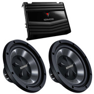 "2 X New Kenwood 12"" Car Audio Subwoofers System With Amplifire Bass Party Pack (Kac5206 & Kfcw112S) 350W"