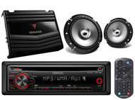 "Car AM FM AUX CD Mp3 Kenwood Radio,2 Kenwood 6.5""2Way Speaker Set,400W Amplifier"