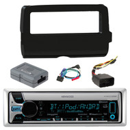 Kenwood KMR-D765BT Marine Boat Yacht Outdoor Car CD MP3 USB AUX Bluetooth AM/FM Radio Receiver,  Scosche 2014-Up Harley Davidson Handlebar Controls, Scosche HD7001B 2014-Up Harley Davidson Stereo Install Dash Kit