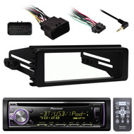 Harley FLHX 98-2013 Single DIN Install Kit, Pioneer Bluetooth USB CD Receiver