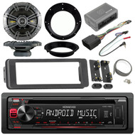 Kenwood CD Harley Install FLHTC 98-2013 Install Adapter Kit Kicker Speaker Set