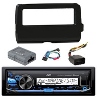JVC KD-X35MBS iPod & Android Digital Media Bluetooth Marine, Powersport Car Receiver,  Scosche 2014-Up Harley Davidson Handlebar Controls, Scosche HD7001B 2014-Up Harley Davidson Stereo Install Dash Kit